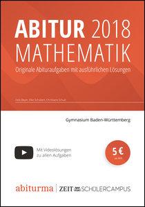 Abitur 2018 Mathematik Baden-Württemberg