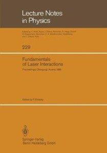 Fundamentals of Laser Interactions
