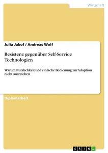 Resistenz gegenüber Self-Service Technologien