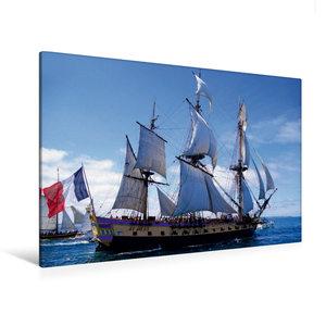 Premium Textil-Leinwand 120 cm x 80 cm quer Fregatte Hermione