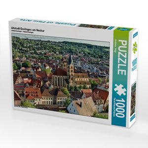 Altstadt Esslingen am Neckar 1000 Teile Puzzle quer