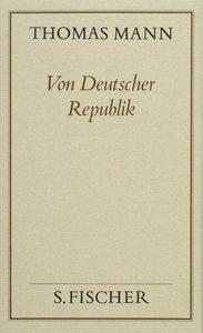 Von deutscher Republik ( Frankfurter Ausgabe)