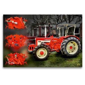 Premium Textil-Leinwand 120 cm x 80 cm quer Oldtimer Traktor McC