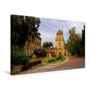 Premium Textil-Leinwand 90 cm x 60 cm quer Kloster Pforta