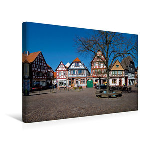 Premium Textil-Leinwand 45 cm x 30 cm quer Marktplatz Seligensta