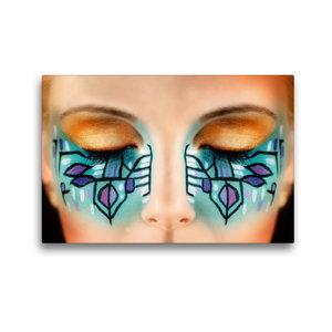 Premium Textil-Leinwand 45 cm x 30 cm quer Kreatives Make-Up