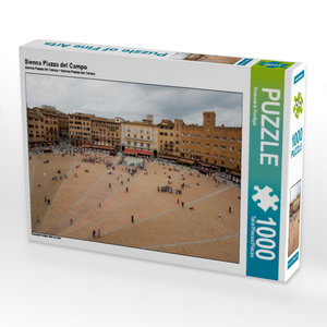 Sienna Piazza del Campo 1000 Teile Puzzle quer