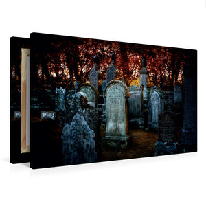 Premium Textil-Leinwand 75 cm x 50 cm quer Gothic Fantasy - Wart