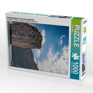 Felsformationen in der Ha Long Bucht 1000 Teile Puzzle hoch