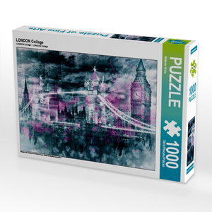 LONDON Collage 1000 Teile Puzzle quer