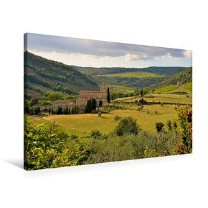 Premium Textil-Leinwand 90 cm x 60 cm quer Kloster Sant Antimo ?