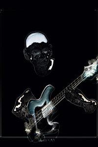 Premium Textil-Leinwand 50 cm x 75 cm hoch Bass-Gitarre