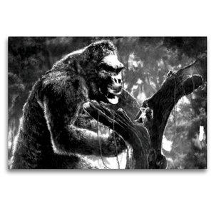 Premium Textil-Leinwand 120 cm x 80 cm quer King Kong