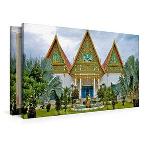 Premium Textil-Leinwand 90 cm x 60 cm quer Tempelanlage, Hua Hin