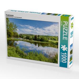 Karpfenteich 1000 Teile Puzzle quer