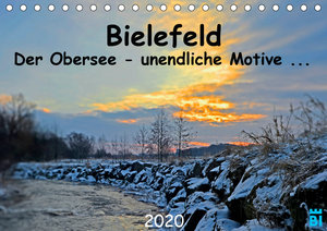 Bielefeld - Der Obersee - unendliche Motive... (Tischkalender 20