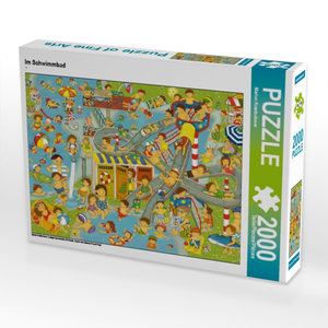 Im Schwimmbad 2000 Teile Puzzle quer