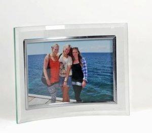 Bilderrahmen Glas geschwungen für Fotoformat 15 x 10 cm