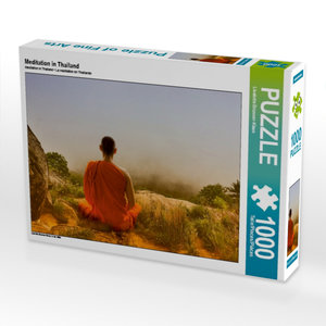 Meditation in Thailand 1000 Teile Puzzle quer