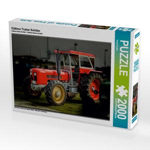Oldtimer Traktor Schlüter 2000 Teile Puzzle quer
