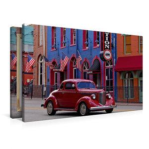 Premium Textil-Leinwand 90 cm x 60 cm quer Central City
