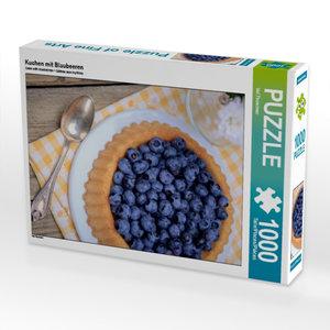 Kuchen mit Blaubeeren 1000 Teile Puzzle hoch
