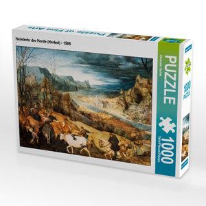 CALVENDO Puzzle Heimkehr der Herde (Herbst) - 1565 1000 Teile Le
