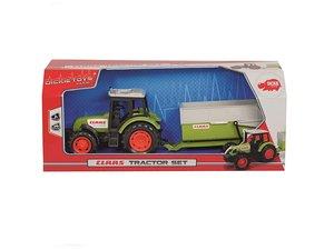 Dickie 203736004 - Claas Traktor und Anhänger