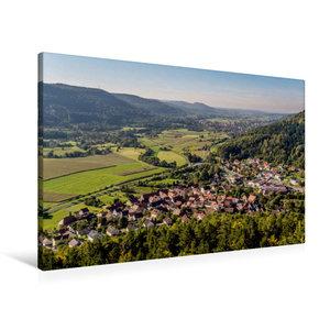 Premium Textil-Leinwand 90 cm x 60 cm quer Blick vom Hummerstein