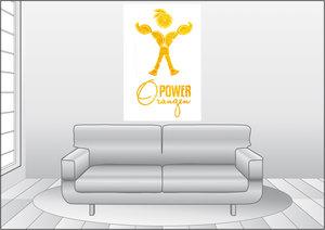 Premium Textil-Leinwand 80 cm x 120 cm hoch OrangenPower - die