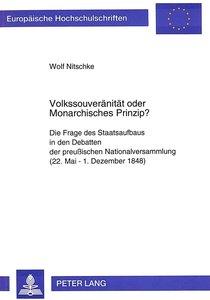 Volkssouveränität oder Monarchisches Prinzip?