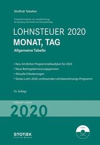 Tabelle, Lohnsteuer 2020 Monat, Tag