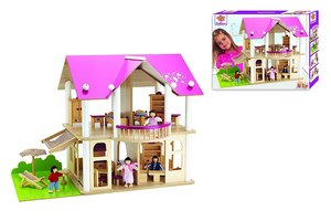 Eichhorn 100002513 - Puppen-Villa mit Möbeln und Figuren