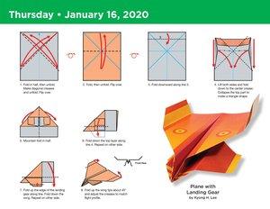 Paper Airplane Fold-a-Day - Papierflieger-Faltvorlage für jeden