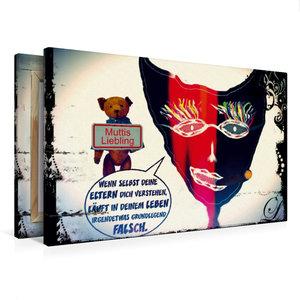 Premium Textil-Leinwand 75 cm x 50 cm quer Muttis Liebling