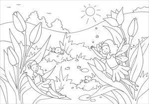 Glitzer-Sticker-Malbuch. Zauberhafte Elfen