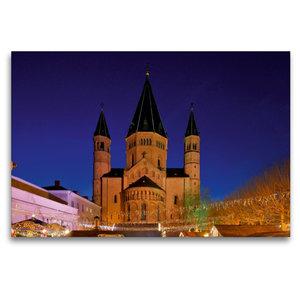 Premium Textil-Leinwand 120 cm x 80 cm quer Mainzer Dom