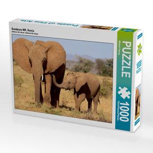 CALVENDO Puzzle Samburu NR, Kenia 1000 Teile Lege-Größe 64 x 48