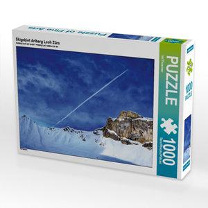 Skigebiet Arlberg Lech Zürs 1000 Teile Puzzle quer