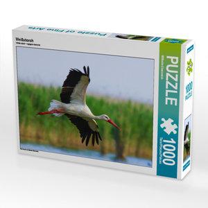 CALVENDO Puzzle Weißstorch 1000 Teile Lege-Größe 64 x 48 cm Foto