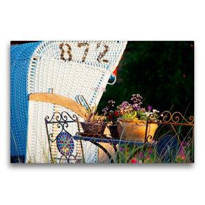Premium Textil-Leinwand 75 cm x 50 cm quer Trauminsel Amrum