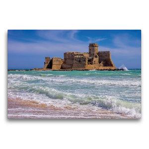 Premium Textil-Leinwand 75 cm x 50 cm quer Fortezza di Le Castel