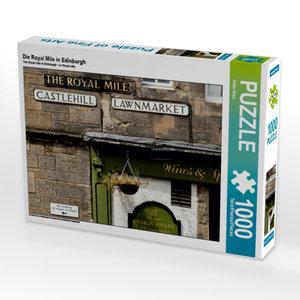 Die Royal Mile in Edinburgh 1000 Teile Puzzle quer
