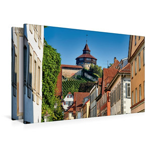 Premium Textil-Leinwand 120 cm x 80 cm quer Der dicke Turm der E
