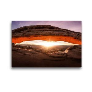 Premium Textil-Leinwand 45 cm x 30 cm quer mesa arch - canyonlan