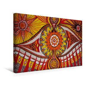 Premium Textil-Leinwand 45 cm x 30 cm quer Das Auge des Schamane