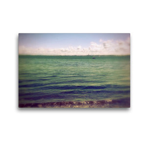 Premium Textil-Leinwand 45 cm x 30 cm quer Strander Strand