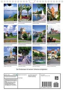 Der Bodensee mit seinen Sehenswürdigkeiten (Wandkalender 2020 DI