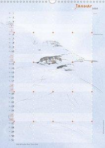 Jahreszeiten im Stil Japanischer Malerei - Familienplaner 2020 D