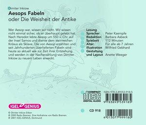 Aesops Fabeln oder Die Weisheit der Antike. 2 CDs